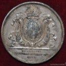 Medallas condecorativas: RARA MEDALLA EN PLATA. BARCELONA / AL GENERAL LAUREANO SANZ / 1843. Lote 58833276
