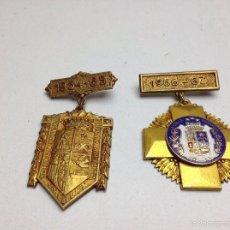 Medallas condecorativas: LOTE MEDALLAS LA SALLE BONANOVA CURSOS 64/65. 66/67. Lote 60270771