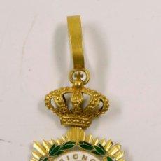 Medallas condecorativas: IN HOC SIGNO SALUS, MEDALLA DE LA CRUZ ROJA ESPAÑOLA TAMAÑO TOTAL 9X4CM.. Lote 61714740