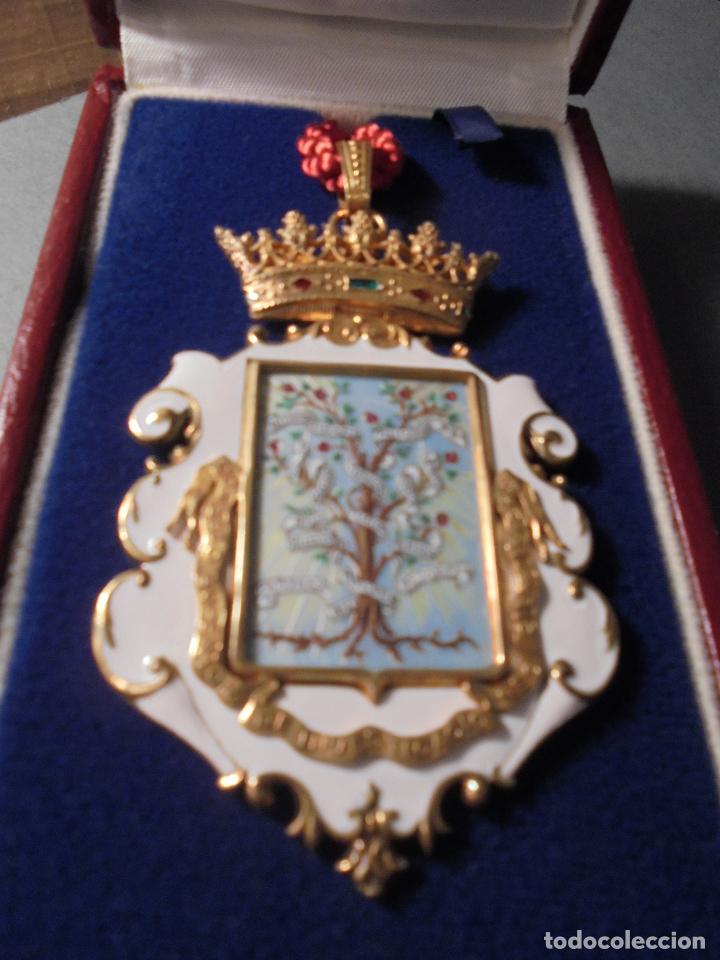 Medallas condecorativas: ANTIGUA MEDALLA DE PLATA DORADA Y ESMALTES CON SU ESTUCHE DEL CONSEJO SUPERIOR DE INVESTIGACIONES - Foto 3 - 71937971