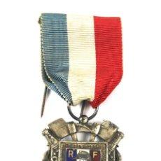 Medallas condecorativas: I- 49. MEDALLA MEMBRE D'HONNEUR FEDERATION NATIONALE SAPEURS POMPIERS FRANÇAIS. ANTIGUA.. Lote 72415095
