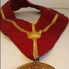 Medallas condecorativas: COLLAR CEREMONIAL MASONICO, ANTIGUO BRITANICO.. Lote 75492615