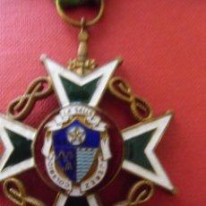 Medallas condecorativas: MEDALLA CONMEMORATIVA COLEGIO LA SALLE JEREZ FRA. AÑO 1950 APROX. ESMALTADA. Lote 80272769