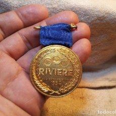 Medallas condecorativas: MEDALLA CONDECORACION HONOR A LA CONSTANCIA FABRICA RIVIERE POBLENOU BARCELONA AÑOS 40 --PLATA LEY. Lote 80801459