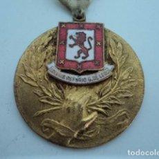 Medallas condecorativas: MAGNIFICA MEDALLA CONDECORACION ANTIGUA RARA COLEGIO REFUGIO G. DE LEON DORADA CON ESMALTE. Lote 87661776