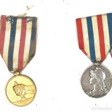 Medallas condecorativas: DOS MEDALLAS FERROCARRIL DE FRANCIA DE LA MISMA PERSONA, 1938 Y 1951. Lote 87883584