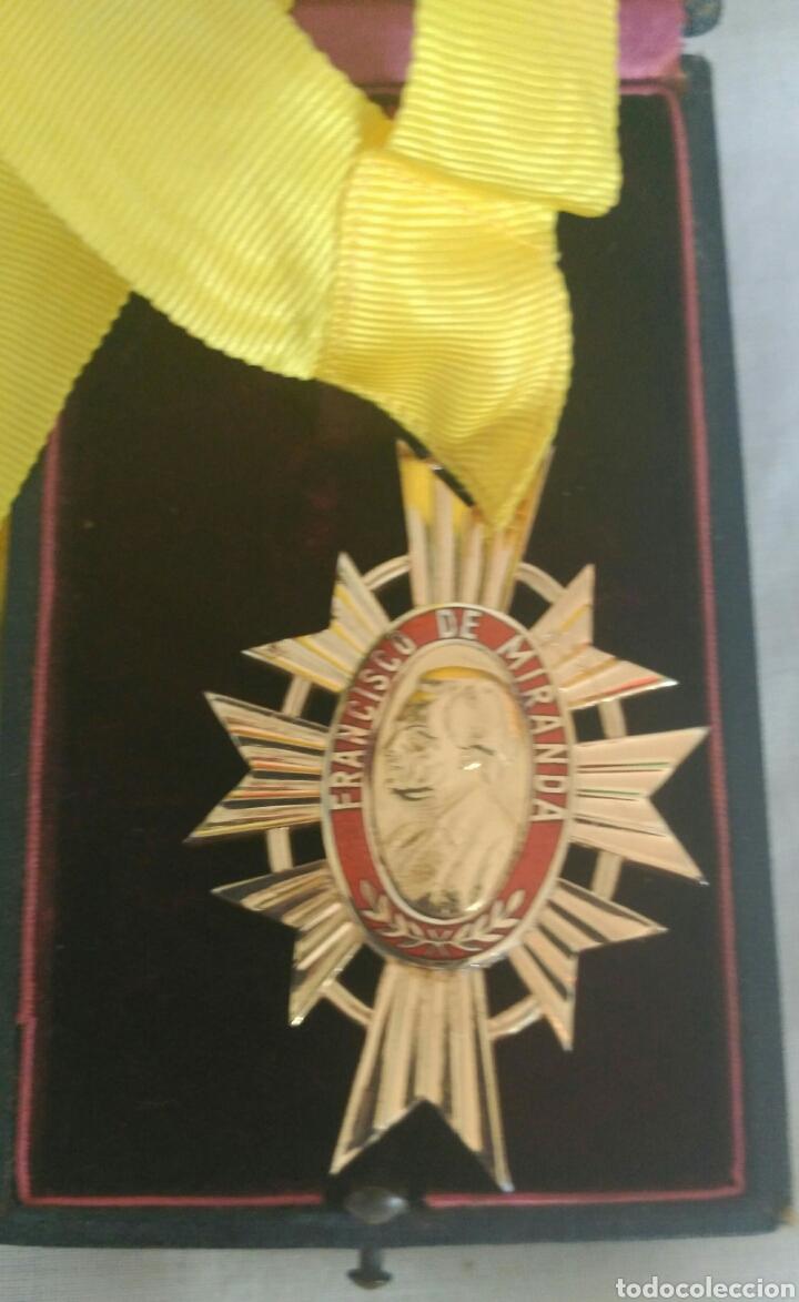 Medallas condecorativas: DE PLATA ORDEN GENERALÍSIMO DON FRANCISCO D MIRANDA. VENEZUELA. MARISCAL D CAMPO REVOLUCIÓN FRANCESA - Foto 2 - 91117057