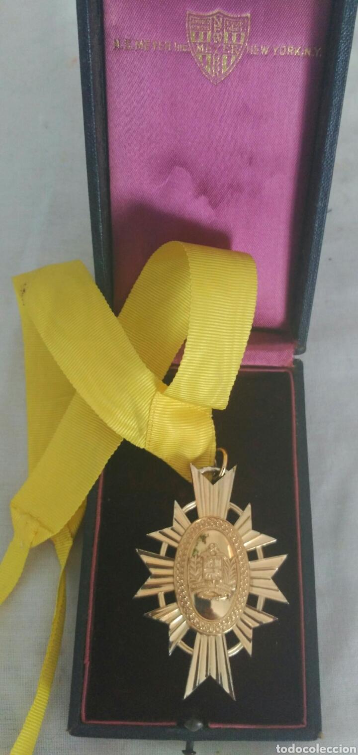 Medallas condecorativas: DE PLATA ORDEN GENERALÍSIMO DON FRANCISCO D MIRANDA. VENEZUELA. MARISCAL D CAMPO REVOLUCIÓN FRANCESA - Foto 3 - 91117057