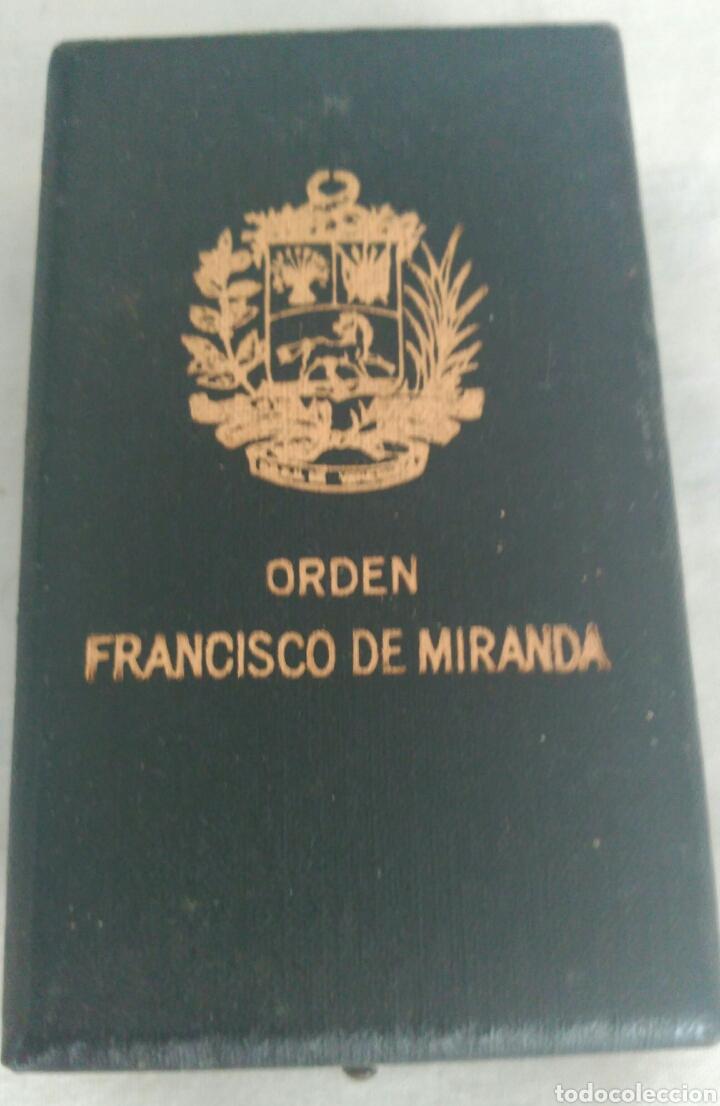Medallas condecorativas: DE PLATA ORDEN GENERALÍSIMO DON FRANCISCO D MIRANDA. VENEZUELA. MARISCAL D CAMPO REVOLUCIÓN FRANCESA - Foto 5 - 91117057