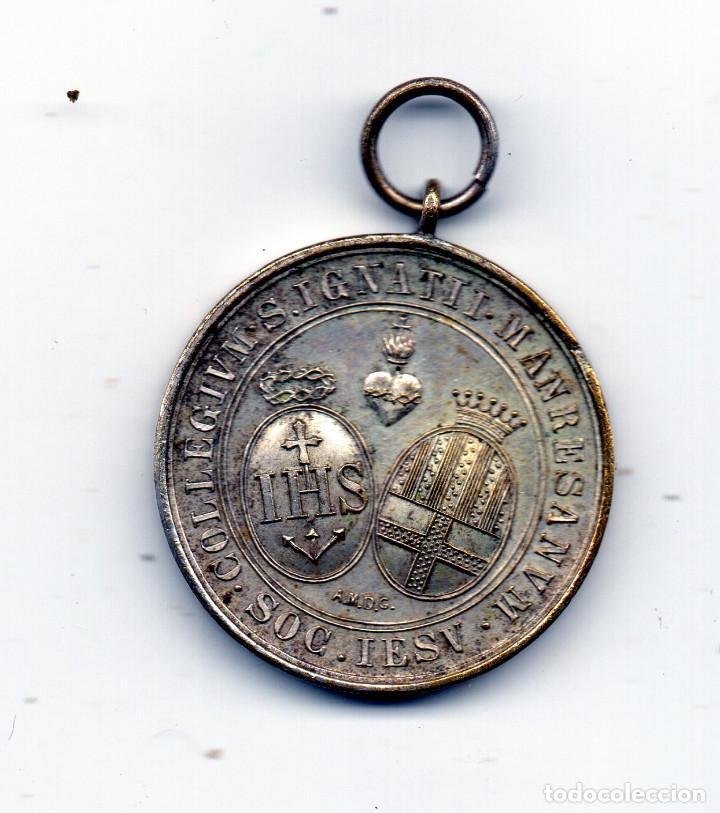 COLLEGIUM IGNATII MANRESANUM MEDALLA ESCOLAR (Numismática - Medallería - Condecoraciones)