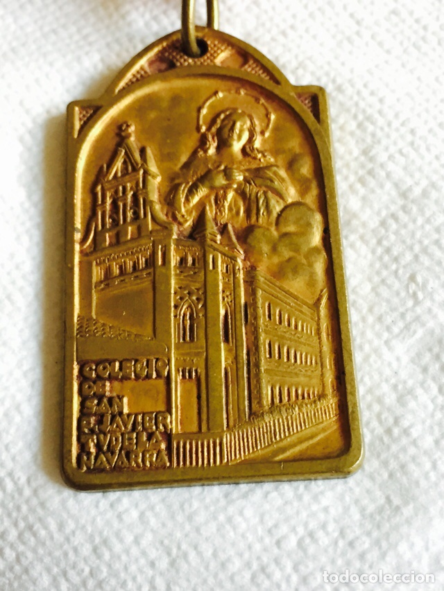 Medallas condecorativas: Medalla premio al mérito COLEGIO SAN FRANCISCO-JAVIER TUDELA - Foto 2 - 96959700