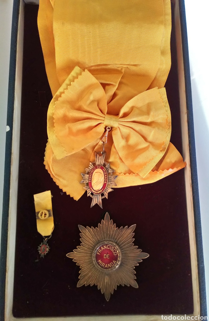CONDECORACIÓN D PLATA ORDEN FRANCISCO D MIRANDA 1 A CLASE GENERALÍSIMO D VENEZUELA. MARISCAL FRANCIA (Numismática - Medallería - Condecoraciones)
