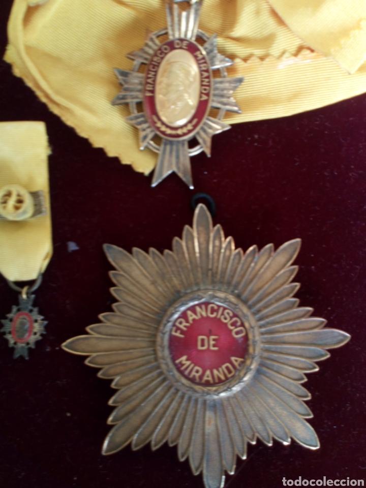 Medallas condecorativas: CONDECORACIÓN D PLATA ORDEN FRANCISCO D MIRANDA 1 a CLASE GENERALÍSIMO D VENEZUELA. MARISCAL FRANCIA - Foto 7 - 97623227