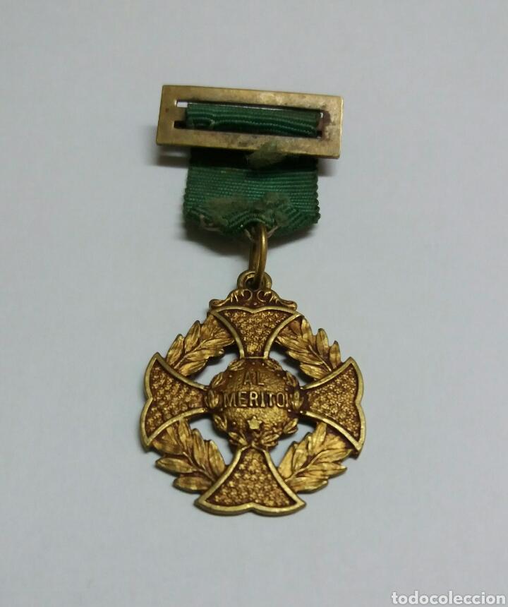 MEDALLA DE COLEGIO, PREMIO AL MERITO. (Numismática - Medallería - Condecoraciones)