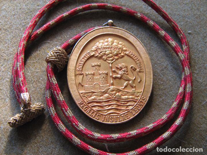 MEDALLA REAL ACADEMIA DE SAN ROMUALDO - PUERTO REAL - CADIZ (Numismática - Medallería - Condecoraciones)