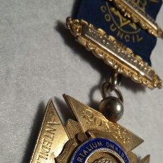 Medallas condecorativas: MEDALLA MASÓNICA PLATA. Lote 109171552