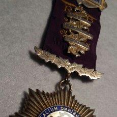 Medallas condecorativas: MEDALLA MASÓNICA PLATA. Lote 109171810