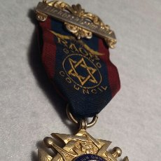 Medallas condecorativas: MEDALLA MASÓNICA PLATA. Lote 109172376