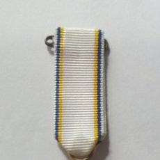 Medallas condecorativas: MINIATURA EN PLATA DE MEDALLA SUECIA, ASOCIACION ESQUIADORES SUECIA, FORENINGEN FOR SKIDLOPNING. Lote 112055647