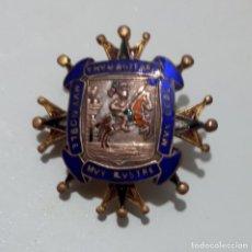 Medallas condecorativas: ANTIGUA INSIGNIA DEL ESCUDO DE AREVALO. Lote 114122571
