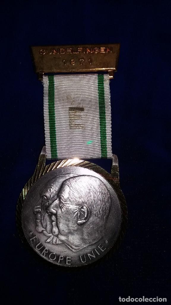 MEDALLA ALEMANA CONMEMORATIVA EUROPA UNIDA 1971 (Numismática - Medallería - Condecoraciones)