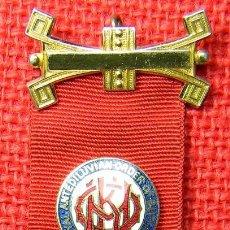Medallas condecorativas: GRAN LOGIA MASONICA DE INGLATERRA. REAL ORDEN ANTIDILUVIANA DE BUFALOS. 38 GRAMOS 12 CMS. Lote 114920699