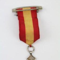 Medallas condecorativas: MEDALLA CONMEMORATIVA CON CINTA Y PASADOR -PREMIO AL MÉRITO ACADÉMICO ? ESPAÑA- MEDIDAS 3,5 X 3,5 CM. Lote 114973267