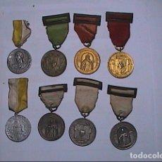 Medallas condecorativas: LOTE DE 8 MEDALLAS CONDECORACIONES / CONMEMORATIVAS. COLEGIO Y CONGRESOS. AÑOS 40.. Lote 115525795