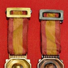 Medallas condecorativas: LOTE 2 ANTIGUAS MEDALLAS ESCOLARES MEDALLA ESCOLA PIA DE SARRIA BARCELONA CATEGORIA ORO Y BRONCE. Lote 51347314