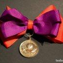 Medallas condecorativas: MEDALLA ESCOLAR AL MERITO Y A LA APLICACIÓN MUY BONITA TAMAÑO GRANDE. Lote 71485171