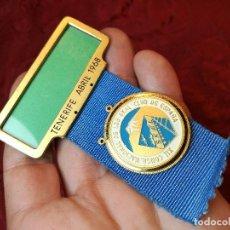 Medallas condecorativas: MEDALLA SKAL CLUB ESPAÑA. DISTINCIÓN TURÍSTICA INTERNACIONAL. XII CONGRESO TENERIFE 1968. Lote 116787799