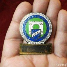 Medallas condecorativas: MEDALLA SKAL CLUB ESPAÑA. DISTINCIÓN TURÍSTICA INTERNACIONAL. X CONGRESO TARRAGONA 1966 . Lote 116788395