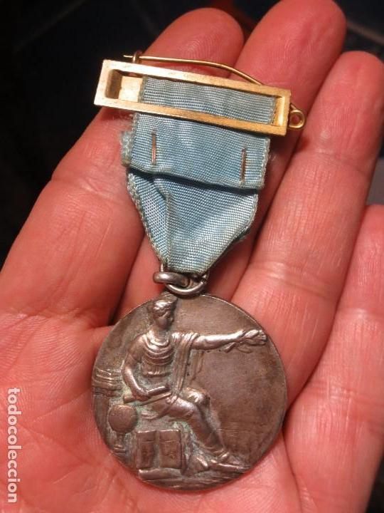 Medallas condecorativas: ANTIGUA MEDALLA CONDECORACION con pasador y banda azul SIN IDENTIFICAR - Foto 8 - 110105027