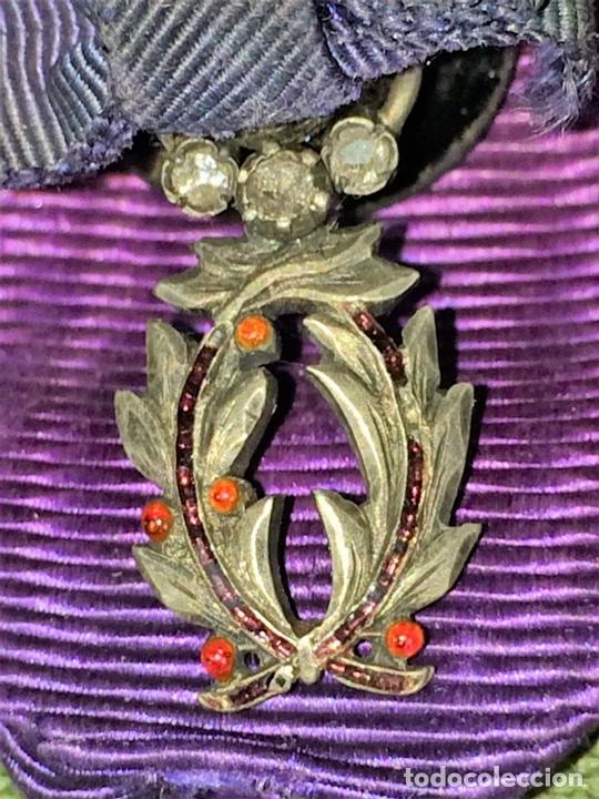 Medallas condecorativas: CONDECORACIÓN ORDRE DES PALMES ACADEMIQUES. PLATA CON DIAMANTES. FRANCIA. SIGLO XIX-XX - Foto 6 - 119106331