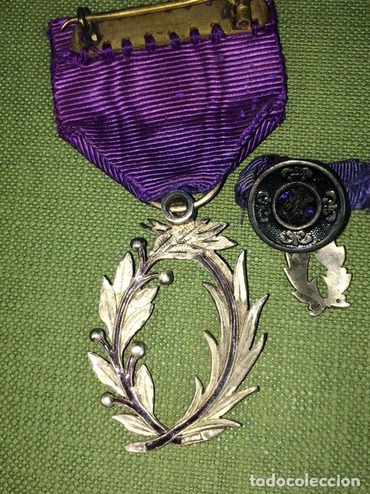 Medallas condecorativas: CONDECORACIÓN ORDRE DES PALMES ACADEMIQUES. PLATA CON DIAMANTES. FRANCIA. SIGLO XIX-XX - Foto 7 - 119106331