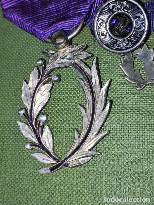 Medallas condecorativas: CONDECORACIÓN ORDRE DES PALMES ACADEMIQUES. PLATA CON DIAMANTES. FRANCIA. SIGLO XIX-XX - Foto 8 - 119106331