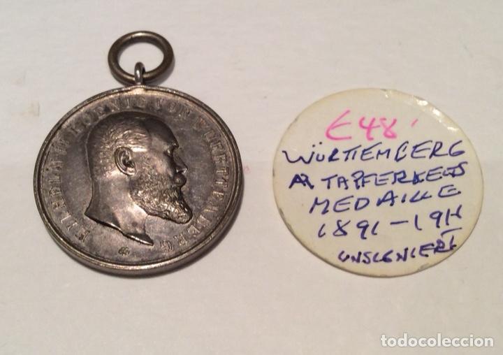 MEDALLA WURTEMBERG ALEMANIA PLATA (Numismática - Medallería - Condecoraciones)