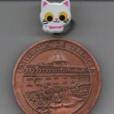 Medallas condecorativas: MEDALLA DE CONDECORACIÓN PARA DOCTOR DE LA UNIVERSIDAD DE VALENCIA EN METAL DE COLOR COBRIZO . Lote 133829406