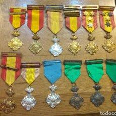 Medallas condecorativas: LOTE MEDALLAS AL MÉRITO ESCOLAR. Lote 135943294