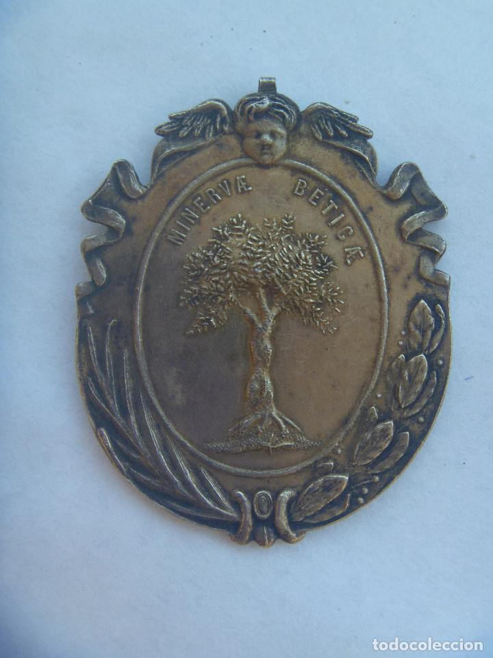 Medallas condecorativas: MEDALLON MINERVAE BETICAE . ACADEMIA DE LAS BUENAS LETRAS DE SEVILLA . PARECE PLATA (?) - Foto 2 - 136657290