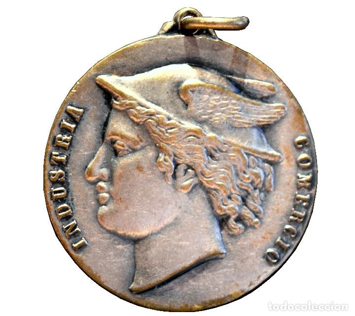 ANTIGUA MEDALLA INDUSTRIA Y COMERCIO 1956 BARCELONA MADRID (Numismática - Medallería - Condecoraciones)