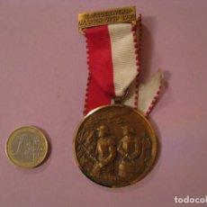 Medallas condecorativas: MEDALLA BOMBEROS SUIZA. 7. FEUERWEHRMARSCH VISP 1981. P. KRAMER NEUCHATEL.. Lote 145206362