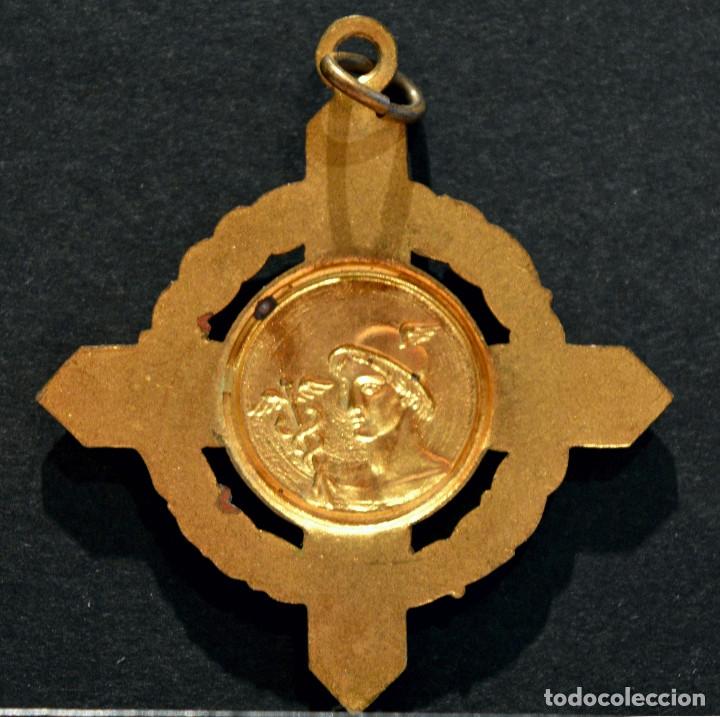 Medallas condecorativas: ANTIGUA MEDALLA EN LATÓN Y ESMALTES COLEGIO DE AGENTES COMERCIALES - Foto 3 - 79143553