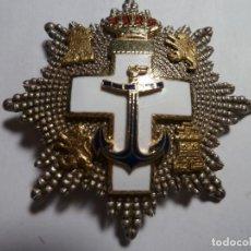 Medallas condecorativas: PLACA AL MERITO NAVAL DISTINTIVO BLANCO PLATA. Lote 146661518