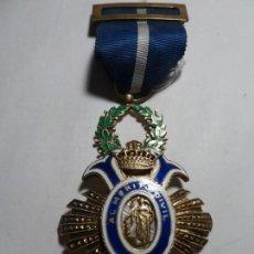 Medallas condecorativas: AL MERITO CIVIL EPOCA DE FRANCO PLATA Y ESMALTES. Lote 146661814