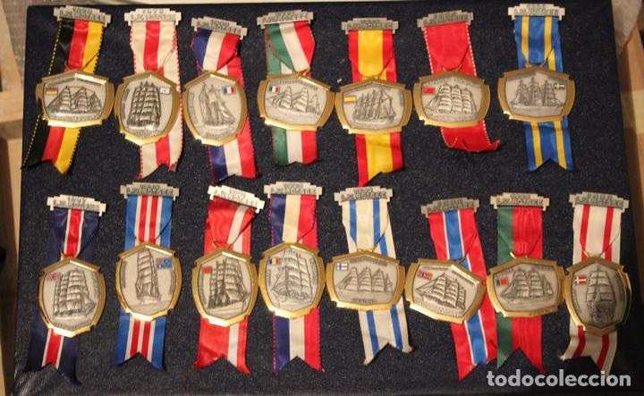 MEDALLAS BARCOS ESCUELA PAISES COLLECIÓN COMPLETA (Numismática - Medallería - Condecoraciones)