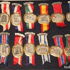 Medallas condecorativas: MEDALLAS BARCOS ESCUELA PAISES COLLECIÓN COMPLETA. Lote 147639686