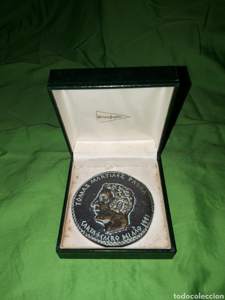 ÚNICA EN TODOCOLECCION MONEDA CONMEMORATIVA CARTAGENERO DEL AÑO TOMAS MARTINEZ PAGAN (Numismática - Medallería - Condecoraciones)