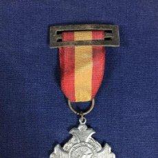 Medallas condecorativas: MEDALLA CINTA PASADOR PREMIO AL MERITO ESCOLAR ALUMINIO AÑOS 20 30 9X4CMS. Lote 148561070