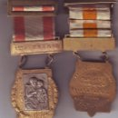 Medallas condecorativas: VILLAFRANCA DE LOS BARROS MEDALLA APROVECHAMIENTO PRIMER PREMIO CURSO 1943-1944. Lote 149721386